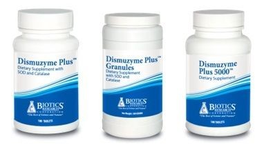 Dismuzyme-Plus in Regular, Extra Strength and Granules by Biotics Research