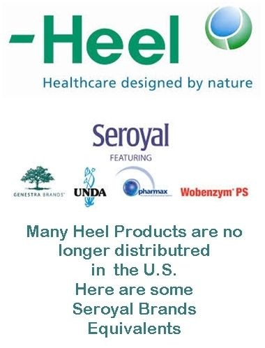 Heel - Seroyal Product Comparison Chart