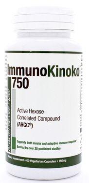 ImmunoKinoko AHCC 750mg 60 caps by QOL Labs