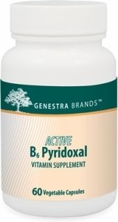 Active B6 Pyridoxal  60caps  by Genestra