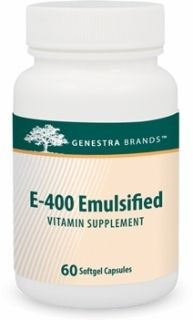 E-400 Emulsified  60caps  by Genestra