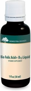 Bio Folic Acid + B12 Liquid  30ml(1fl.oz)  by Genestra