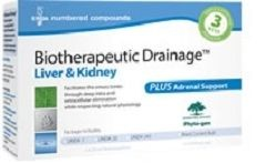 BTD Liver & Kidney plus Adrenal (BioTherapeutic Drainage)  1kit  by Genestra