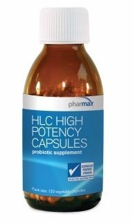 HLC HighPotency 120caps w/10.BillionCFU HumanSourced Probiotics by pHARMAx