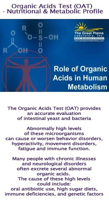 Organic Acids Test (OAT) - Nutritional & Metabolic Profile