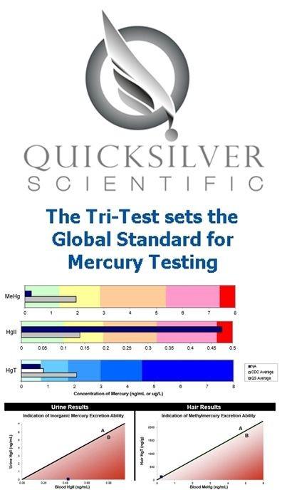 Quicksilver Scientific Mercury Tri Test Blood Metals Lab Panels
