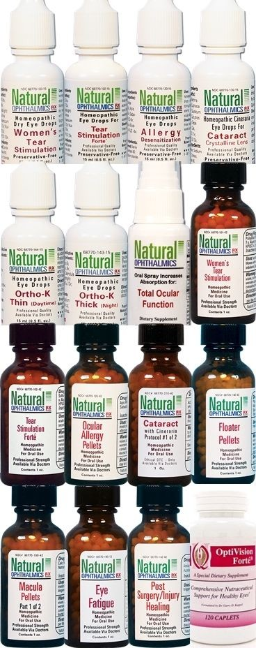 Natural Ophthalmics - Our Full Range of All Natural Professional Eye Care Products