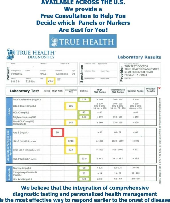 True Health Diagnostics - All Panels and Individual Lab Prices